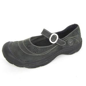 Keen Calistoga 8 Dark Green Mary Jane Leather Shoe